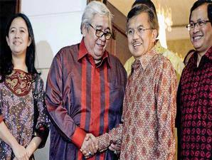 Taufik Kiemasa dan H M Jusuf Kalla