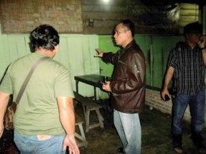 Dandim 0203 Langkat Letkol Inf Agusman Heri, yang tanpak turun langsung ke lokasi kejadian
